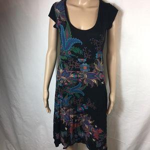 DESIGUAL MULTICOLORED FLORAL DRESS -SMALL